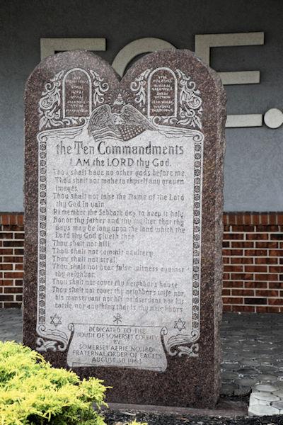 Eagles Ten Commandments Monument in Pennsylvania